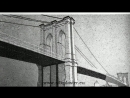 Podul din Brooklyn un frumos desen pe perete cu tapetele lichide SILK PLASTER