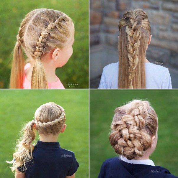 Идеи прически на длинные волосы для девочки