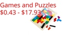 Games and Puzzles $0.43 - $17.93