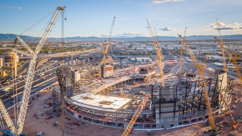 Строительство Las Vegas Stadium, г. Лас-Вегас, США.