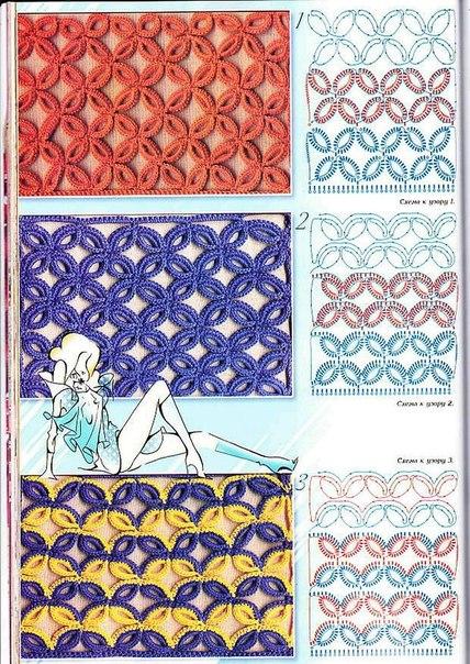 Delicadezas en crochet Gabriela: Nueva colección de puntos en ganchillo