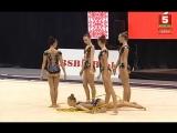 Сборная России - 5 обручей (многоборье) // World Challenge Cup 2018, Минск