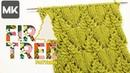 ОРИГИНАЛЬНЫЙ УЗОР ЁЛОЧКАМИ / МК по вязанию узора спицами / Fir tree knit pattern