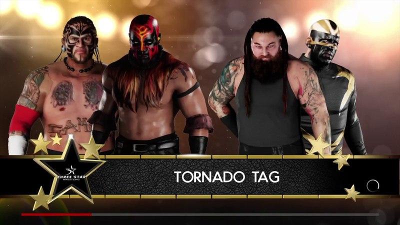WWE 2K18 The Boogeyman Umaga VS Bray Wyatt Goldust Tornado Tag Elimination Match