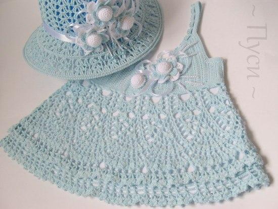 Топик и шляпка для девочки.