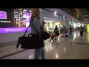 205 JEANS HIGH HEELS ON DUBAI AIRPORT PUBLIC WALKING BY TAMIA
