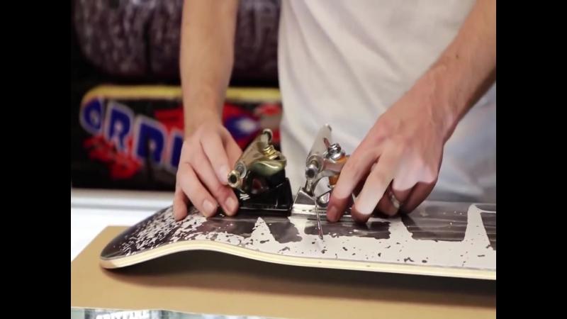 Как собрать скейтборд с Aaron Kyro часть5 траки