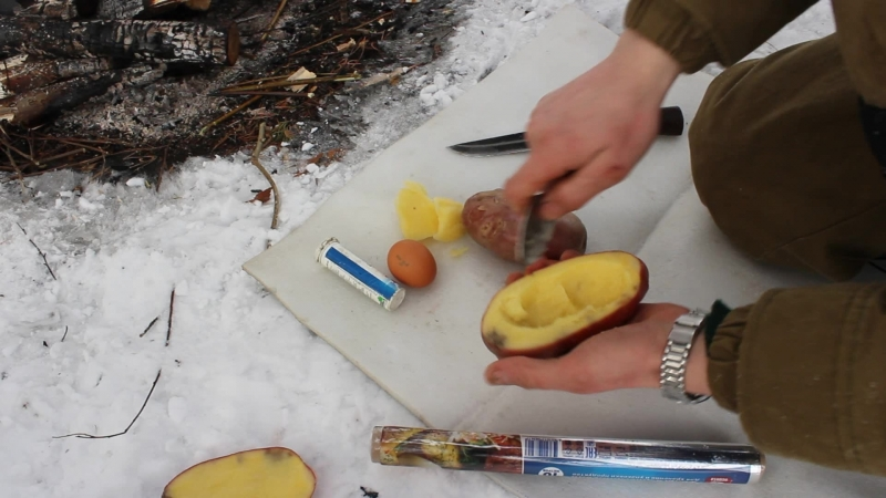 Лесная кухня. Запечённая картошка