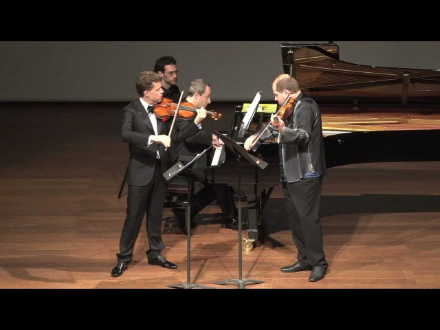 Rachlin, Brovtsyn, Golan, performing Shostakovitch pieces for 2 violins and piano. 1st part.