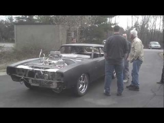 850HP Blown 572 Hemi Charger first test run and burnout