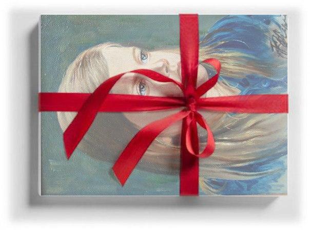 Как подписать портрет подарок