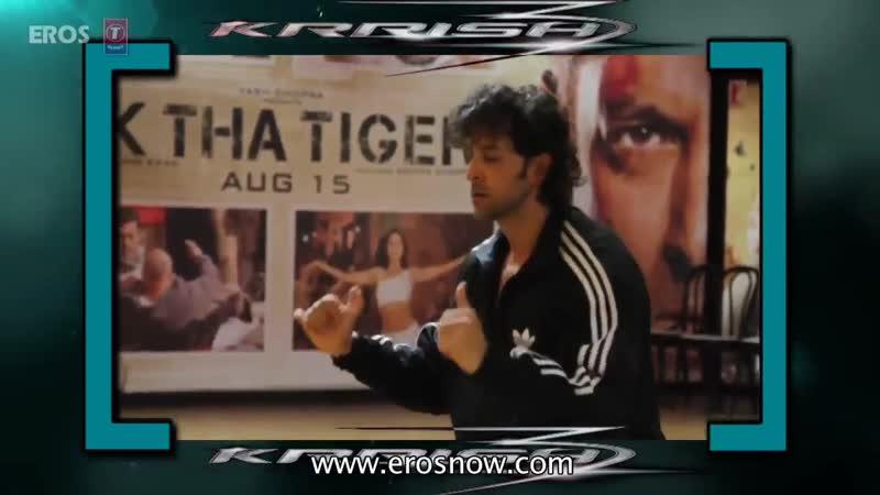 Hrithik rehearsing for the Dance steps in Raghupati Raghav song for Krrish3