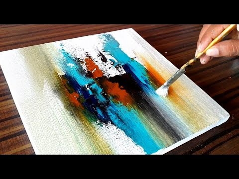 Making of Acrylic Abstract Painting / Project 365 days / Day 083