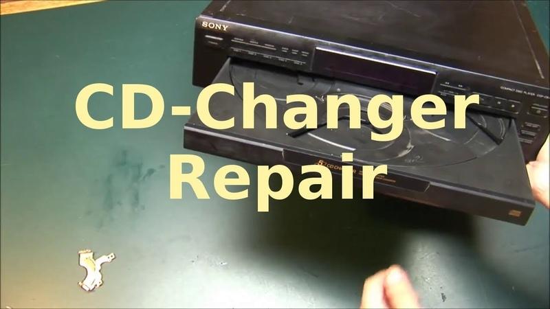Sony 5 Disc CD Changer Repair - Stuck Drawer, belt replacement, dissasemble