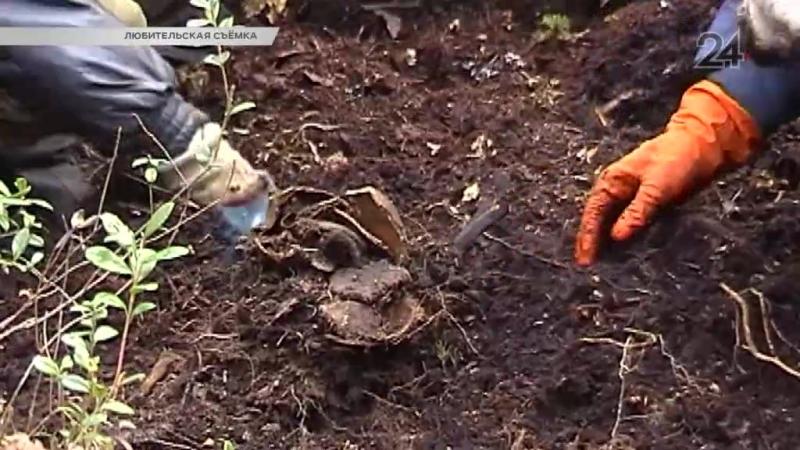 Поисковики передали родственникам найденные при раскопках останки героя Великой отечественной войны