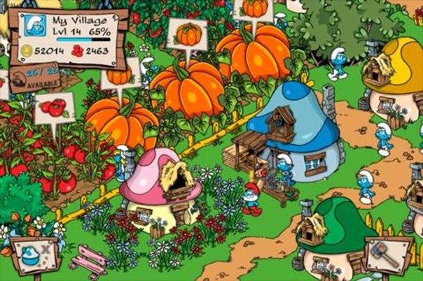 Скачать Smurfs' Village для android