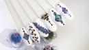 Дизайн ногтей Геометрический дизайн глиттером Nails Ромбики