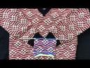 Triple colour sweater design jisme double dhaga use nhi hoga