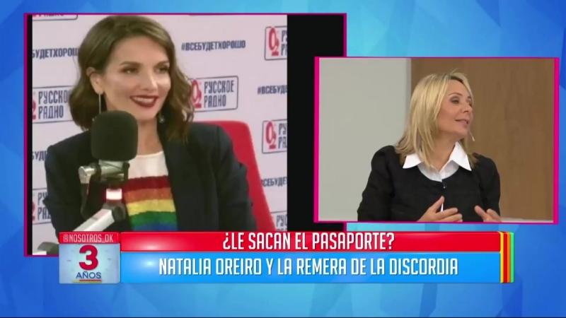 Natalia Oreiro defendió a la comunidad LGBT y le abrían sacado el pasaporte en R