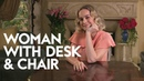 Brie Larson | Woman with Desk and Chair | InStyle
