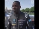 Idris Elba drives the Formula E car in Paris!