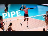 TOP 50 BEST Volleyball PIPE. Womens VNL 2018.