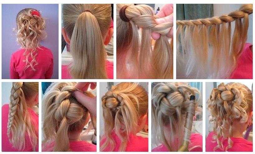 Красивые не сложные причёски - Прически, укладки. Пошаговые уроки, МК ВКонтакте