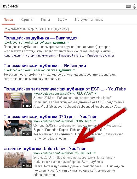 Вывод в ТОП google по ключевому слову