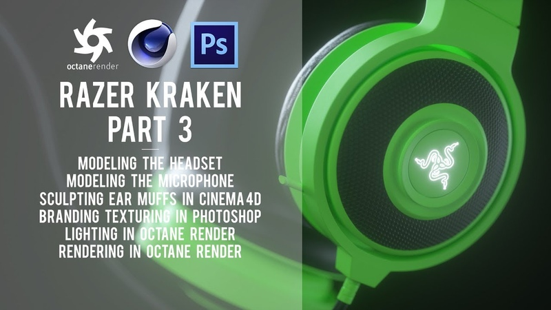 Cinema 4D Razer Headphones Modelling and Texturing Tutorial - Part 3