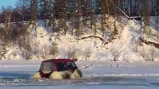 Вездеход, снегоболотоход BigBo | Зимние испытания