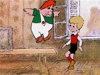 Малыш и Карлсон - Музыкальная композиция, звучащая во время нападения привидения на жуликов - не указанная в титрах...