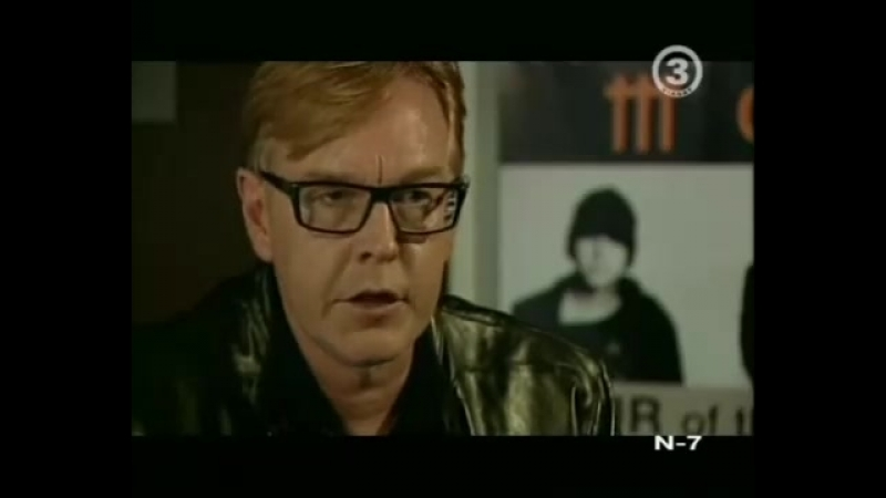 Andrew Fletcher interview on Lithuanian TV (2008)