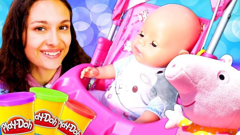 Juegos de muñeca bebé. Nuevas historias de Baby Born. Peppa y otros muñecos infantiles.