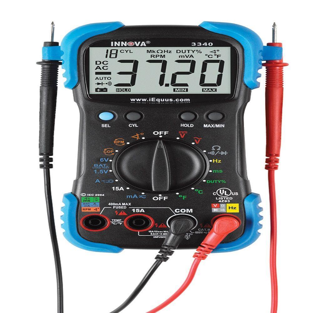 Этот автоматически устанавливаемый цифровой мультиметр, который измеряет напряжение AC / DC, ток AC / DC и сопротивление. Он также может измерять температуру, емкость, ...