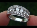 Certified Jewelry Estate VS2 F Natural Diamond 14k White Gold Cocktail Anniversary Ring C687