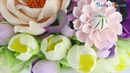 Букет из зефирной глины Фрезия Flower clay craft tutorial Fresia