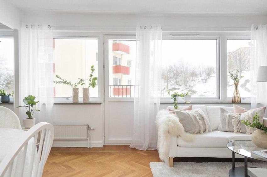 Скандинавский интерьер квартиры-студии почти 35 м.