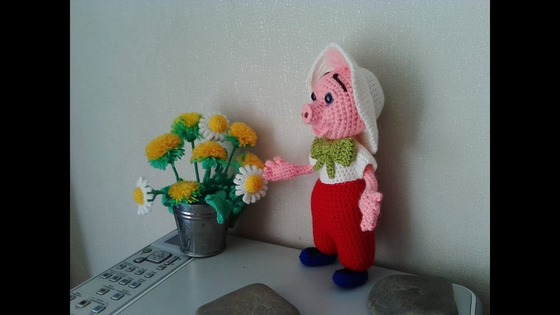 Поросенок Фунтик ч 2 Piglet Funtik р 2 Amigurumi Crochet Амигуруми Игрушки крючком