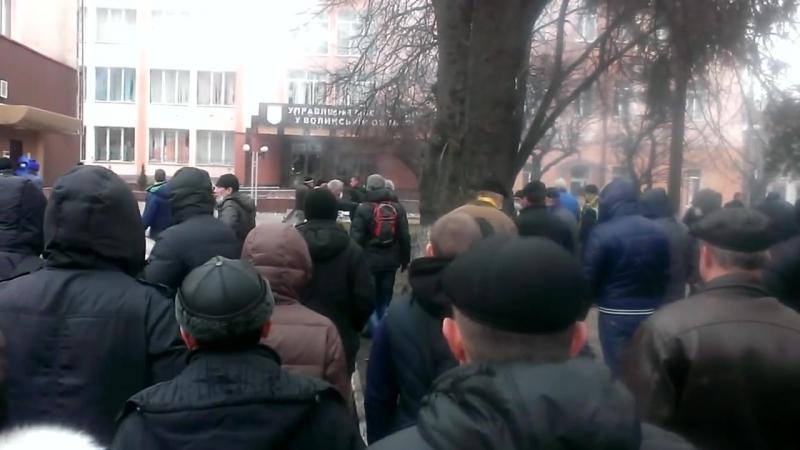 Луцк 19 февраля 2014 Штурм МВД Евромайданом