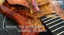 MAKING THE INSTRUMENT Warwick Thumb NT with diamonds Bubinga Burl Body 18 3816