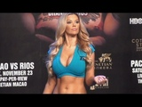 The lovely Jessa Hinton - Playboy Playmate Miss July (Top Rank Boxing)
