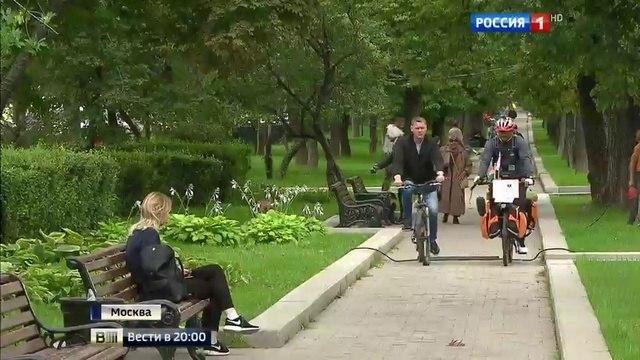 Вести 2000 • Вокруг света на велосипеде путешественник из Индии добрался до Москвы