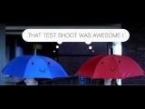 A Real Life Blue Umbrella Animation Test