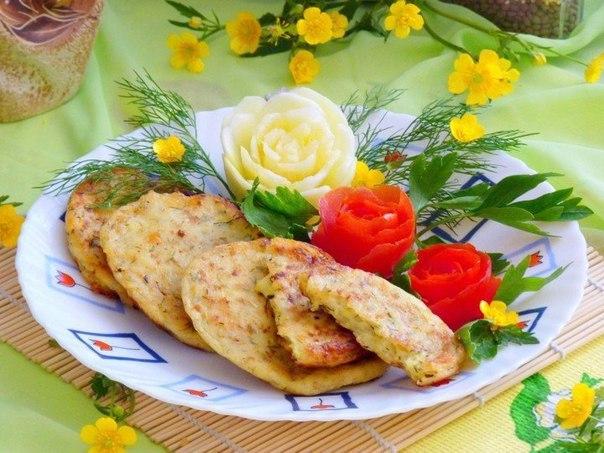 Кабачково-сырные оладьи.
