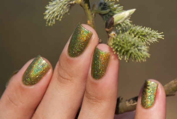Dance Legend Holodays Holo Days Olive Theory nail polish