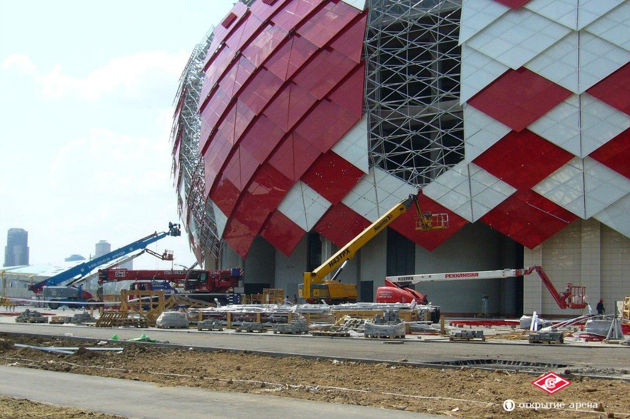На строительстве спартаковского стадиона «Открытие Арена». Большой фотоотчет Кирилла Попова из раздела «Глазами болельщика»