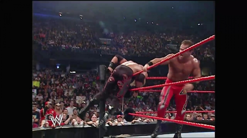 Edge Vs Chris Benoit - Table Match - RAW 30.05.2005