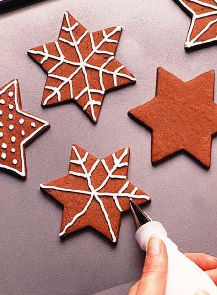 Новогоднее печенье «Снежинки из шоколада»