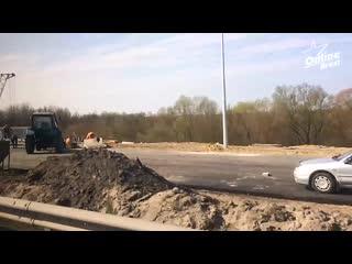 Реконструкция моста на трассе М-1 вблизи д. Бульково всё ближе и ближе к завершению