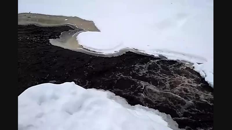 Карельские равнинные водопады зимой
